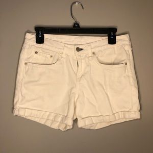 Rag & Bone Women's Aged Bright White Cuffed Shorts